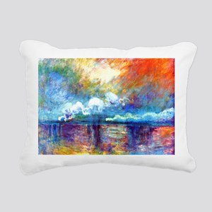 Monet Charing Cross Brid Rectangular Canvas Pillow